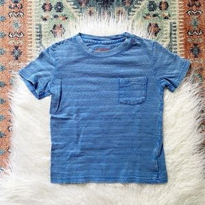 {cat & jack} blue aged looking tee 4T